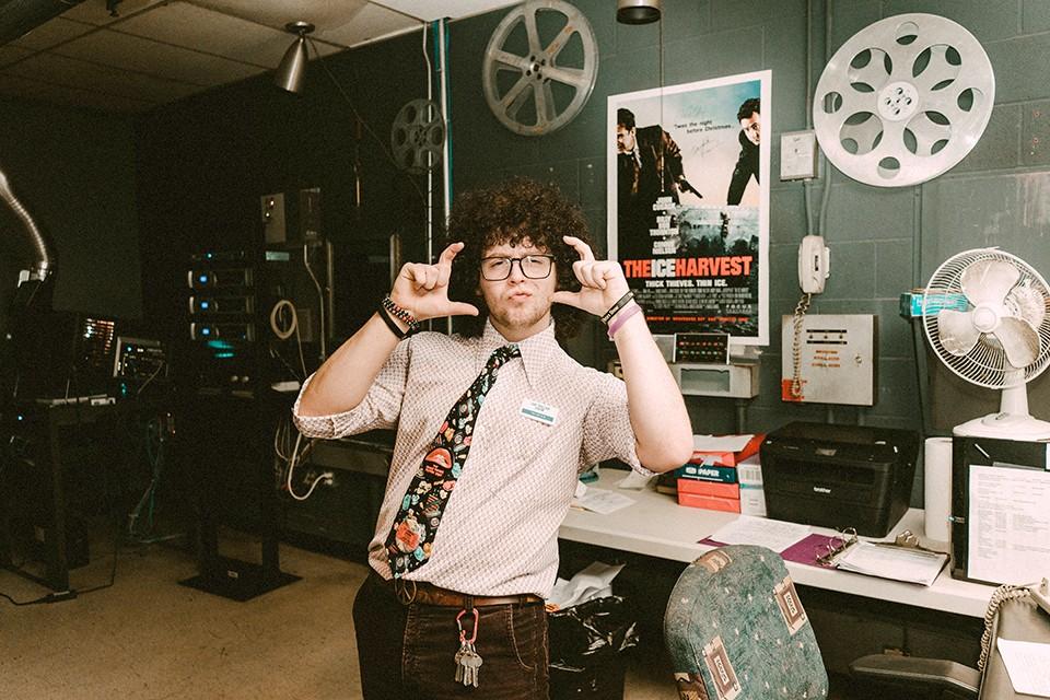 Tristan Ratterman works his movie job for the love. - VIRGINIA HAROLD