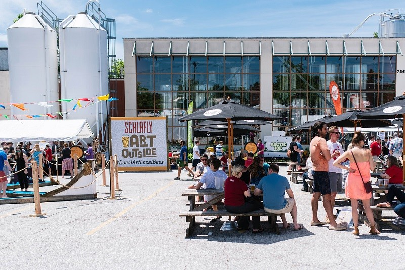 Schlafly's Art Outside celebrates St. Louis artists this weekend. - COURTESY OF SCHLAFLY