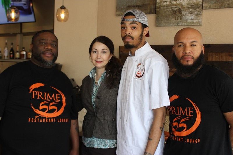 From left,  co-ownerTony Davis, general manager Mary Rolph, executive chef Tyler Wayne and co-owner Orlando Watson. - SARAH FENSKE