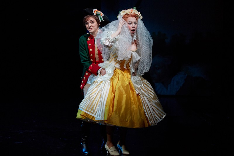 As Cherubino and the Countess Rosina, Samantha Gossard, left, and Susannah Biller are both standouts. - ERIC WOOLSEY