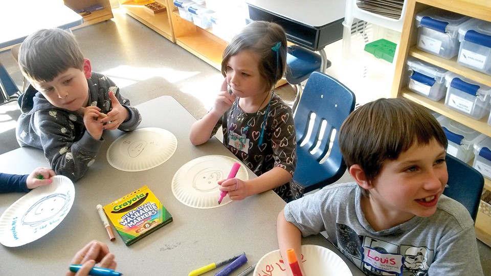 Students like five-year-old Theo, left, get a new perspective at We Stories. - COLLEEN SCHRAPPEN