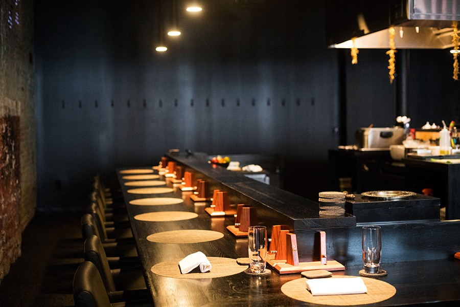 Seating around Connoley's and Bell's workspace offers guests an opportunity to learn about their meals. - MABEL SUEN