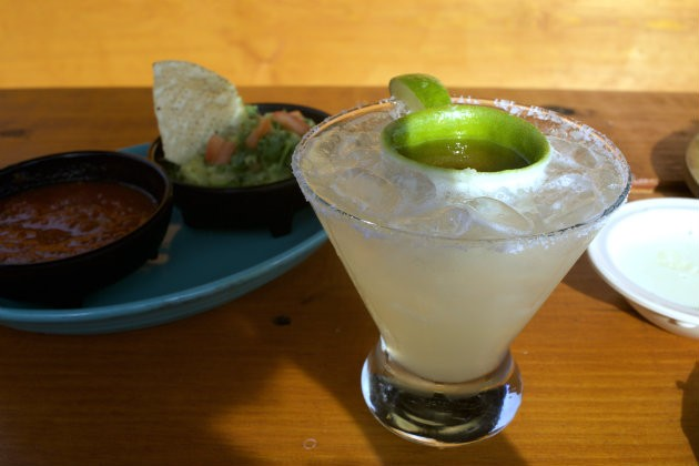 A signature margarita comes complete with a Grand Marnier float. - CHERYL BAEHR