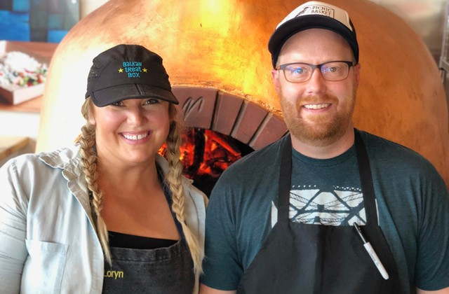 Chefs Loryn Nalic, at left, and Nate Hereford. - COURTESY BALKAN TREAT BOX