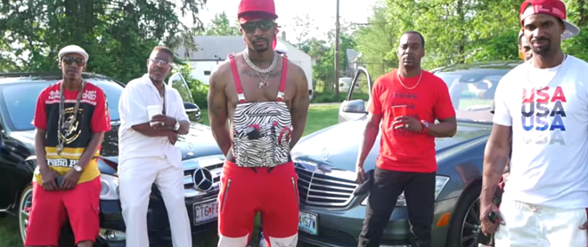 Chingy's sartorial choices mark just one of the elements of his new video that the internet has seen fit to mercilessly ridicule. - SCREENSHOT FROM THE VIDEO BELOW