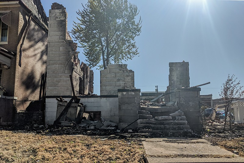 The remains of 5126 Enright. - DANNY WICENTOWSKI