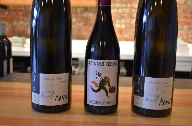 Little Fox exclusively serves natural wines, including a French bottle featuring a fox (or reynard). - LIZ MILLER