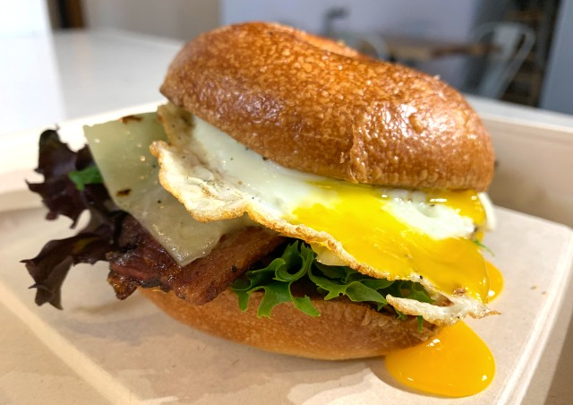 Housemade bagels are a highlight of Yolklore's new build-your-own breakfast sandwich menu. - COURTESY YOLKLORE