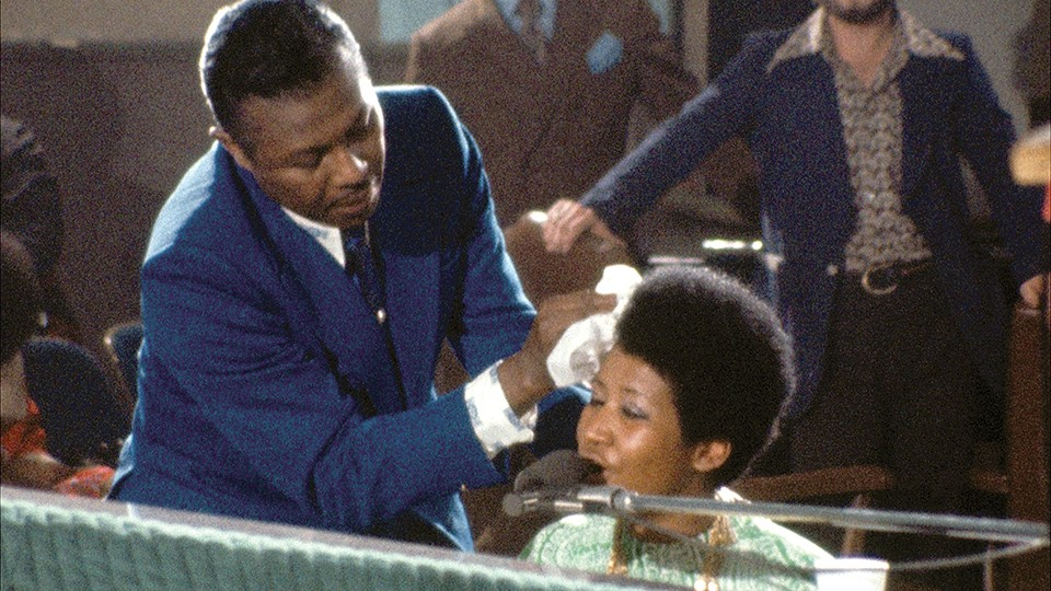 Aretha Franklin works up a sweat in Amazing Grace. - COURTESY OF NEON