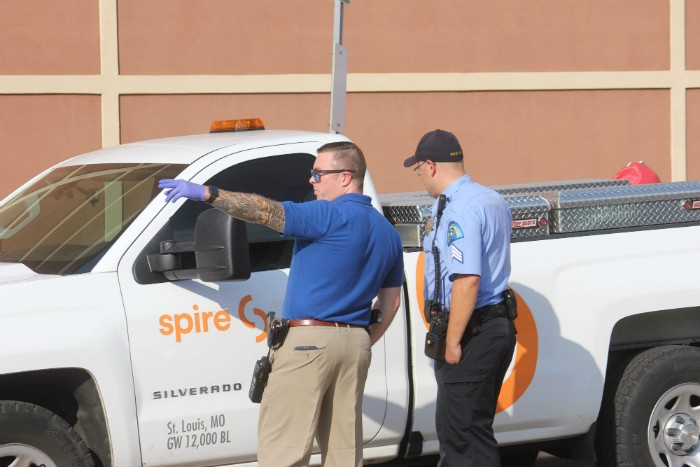 St. Louis police followed the stolen Spire truck until Harris parked it and walked away. - DOYLE MURPHY