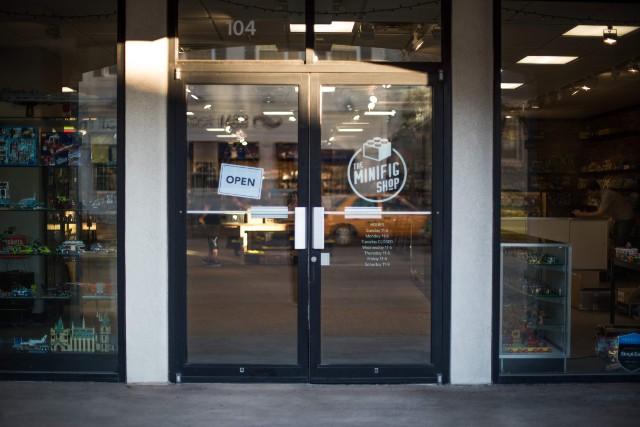The exterior of The Minifig Shop. - TRENTON ALMGREN-DAVIS