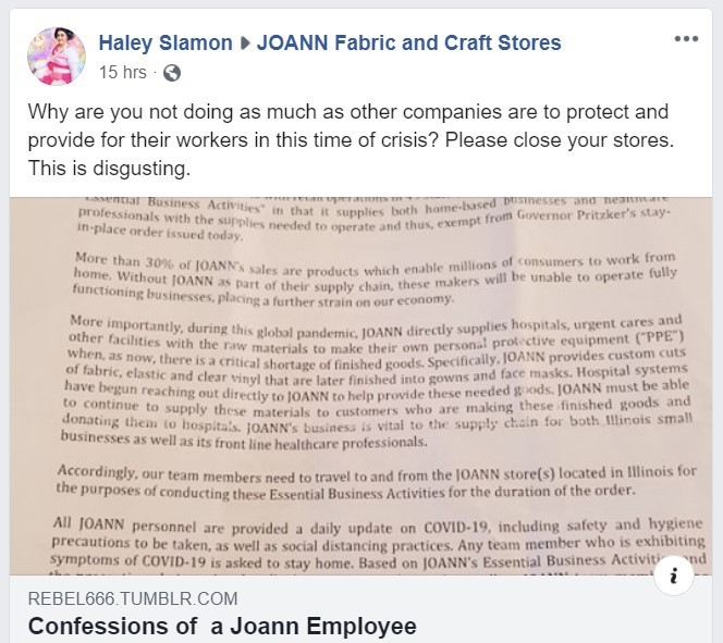 Is Joann Fabrics Really Offering Face Mask Sewing Kits News Blog