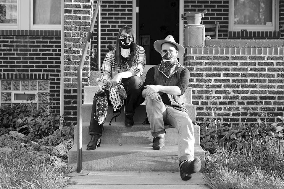 Musicians Kellie Everett and Ryan Koenig. - NATE BURRELL