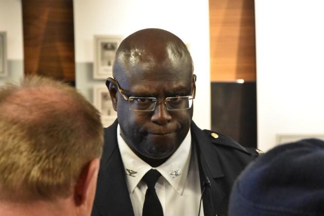 "St. Louis police Chief John Hayden says police union spokesman Jeff Roorda has ""no seat at my table."" - DOYLE MURPHY"