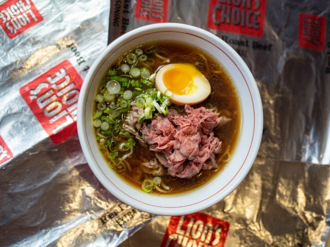 The Lion's Choice-Nudo House King Beef Ramen is the most St. Louis thing you will eat all week. - COURTESY OF LION'S CHOICE