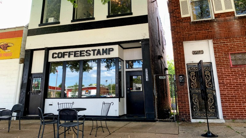 Coffeestamp Microroasters & Coffee Bar opened below the Clapp brothers coffee roasting operation. - DOYLE MURPHY