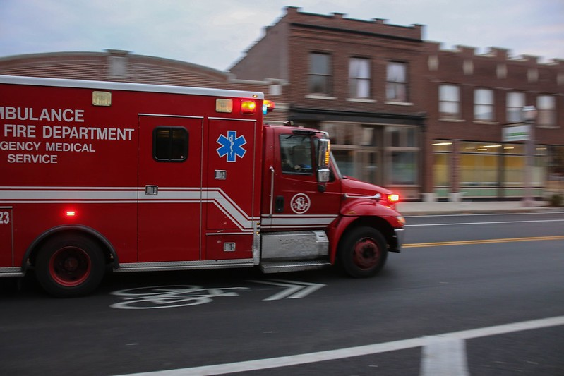 The man was transported to a hospital after he was struck twice in the leg. - VIA FLICKR/PAUL SABLEMAN