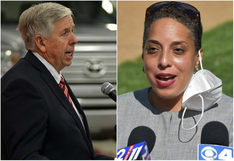 Gov. Mike Parson wanted to take some cases away from the St. Louis Circuit Attorney, but his proposal failed in the House of Representatives. - TOM HELLAUER/DOYLE MURPHY