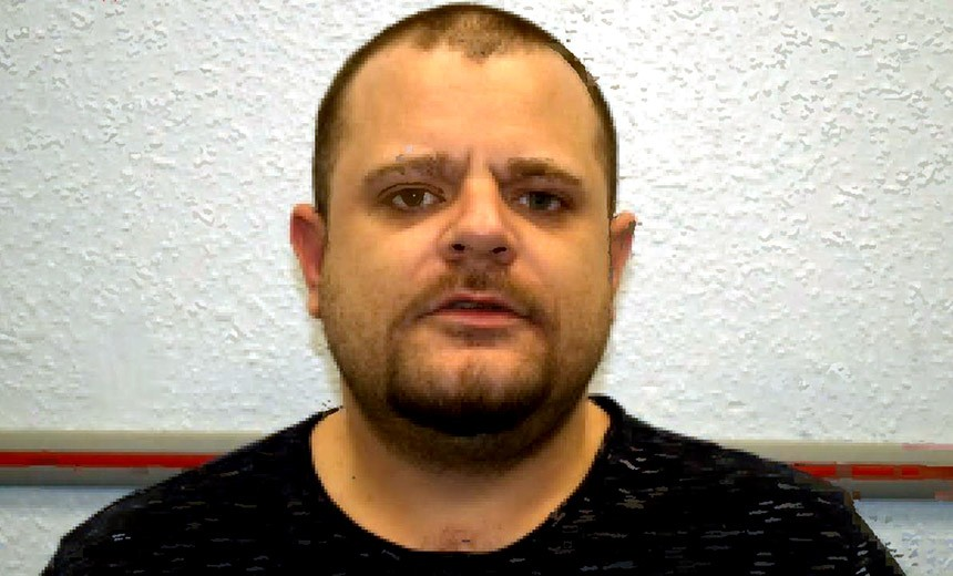 A mugshot of Nathan Wyatt taken after his 2017 sentencing to fraud and extortion in London. - LONDON METRO POLICE