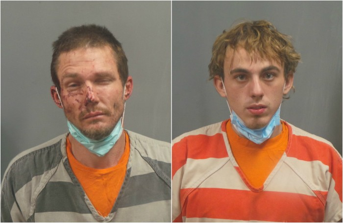 Jesse Bell, left, and Gregrey Tyler face multiple felonies. - COURTESY JEFFERSON COUNTY SHERIFF