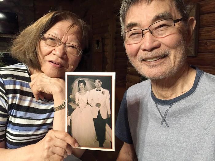 Henry Shimabukuro with his wife Miki celebrating their 59th wedding anniversary in July 2020. - COURTESY SHIMABUKURO FAMILY