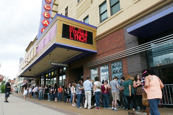 The lines outside the Pageant (show here before the pandemic) might take a little longer now that visitors have to show their COVID status along with their ID. - NICK SCHNELLE