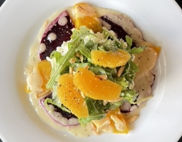 Beet salad is a refreshing starter. - COURTESY TIMOTHY METZ