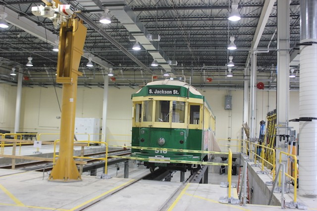 Another car in in the process of being refurbished. - PHOTO BY SARAH FENSKE
