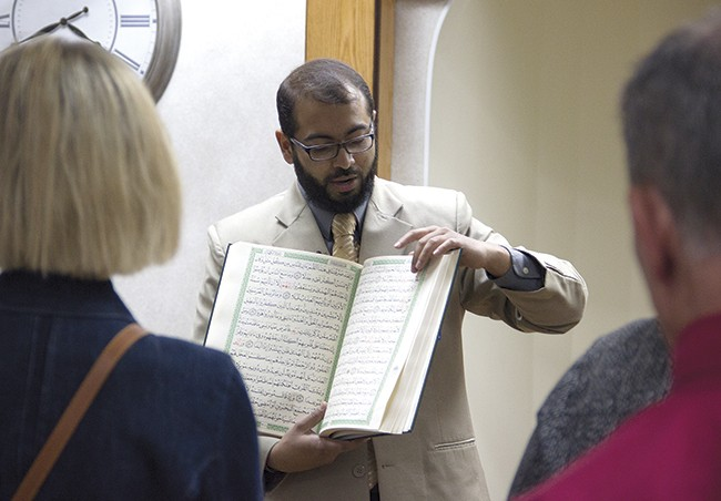 """""""My goal isn't to change every single person's understanding of Islam; that's not my job,"""" says Faizan Syed. - PHOTO BY DANNY WICENTOWSKI"""