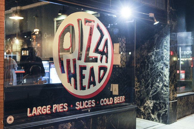 """Pizza Head is located in the spot that formerly held Brickyard Tavern, and before that, Absolutli Goosed. """"It's just a killer location,"""" Sandler says. """"I was really lucky to land this space."""" - PHOTO BY KELLY GLUECK"""