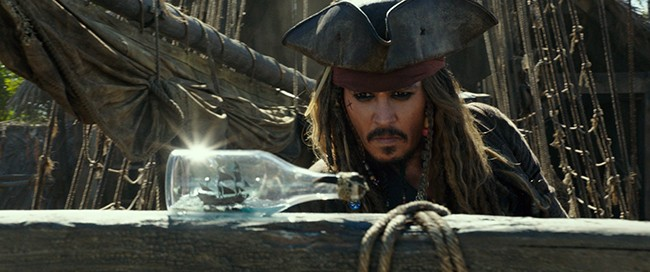 Very little of the film entertains, even Depp. - P​HOTO BY FILM FRAME - © ​DISNEY ENTERPRISES INC.