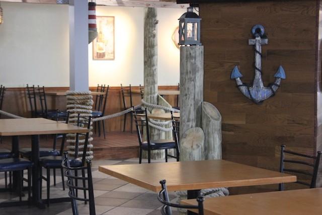 A seafood theme permeates the space. - PHOTO BY SARAH FENSKE