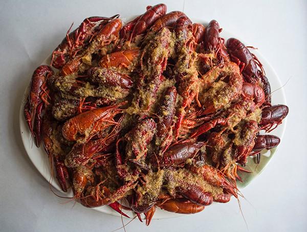 Crawfish start at just $6 per pound. - PHOTO BY SARA BANNOURA