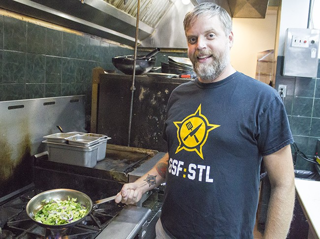 Brian Hardesty, chef and co-founder of Guerrilla Street Food. - SARA BANNOURA