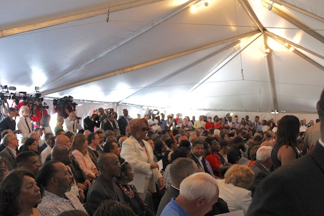 The opening drew a packed house of dignitaries and locals. - PHOTO BY QUINN WILSON