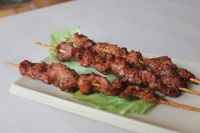 Pork kushiage, or skewers, are a new addition to the menu. - PHOTO BY SARAH FENSKE