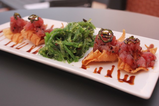 Ahi tuna poke is one of the four food offerings on the current menu. - PHOTO BY SARAH FENSKE