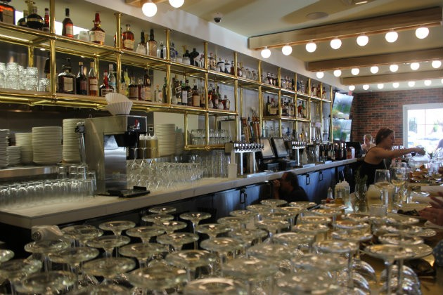The bar at Katie's Pizza & Pasta Osteria. - CHERYL BAEHR
