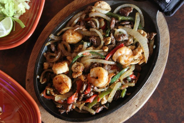 The fajitas are a house specialty. - CHERYL BAEHR