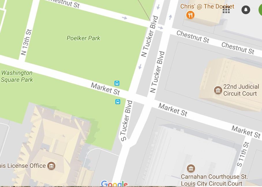 A section of Poelker Park will be set aside for protests following the Jason Stockley verdict Mayor Lyda Krewson says.- IMAGE VIA GOOGLE MAPS