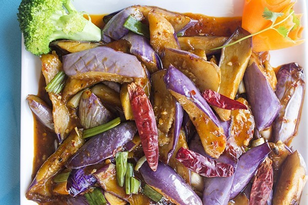 Yushiang eggplant at Webster Wok. - MABEL SUEN