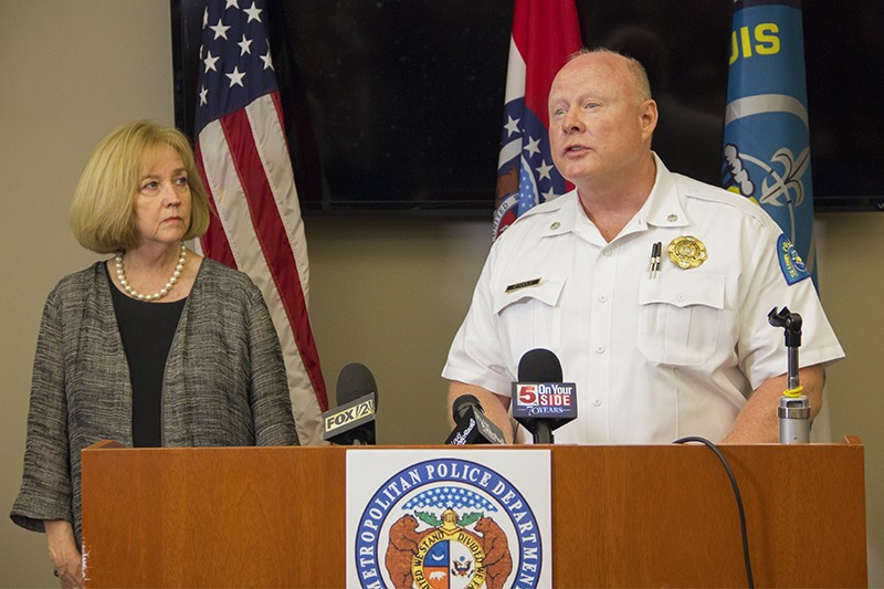 Mayor Lyda Krewson and St. Louis interim police Chief Larry O'Toole have asked the U.S. Attorney to investigate abuse allegations. - PHOTO BY DANNY WICENTOWSKI