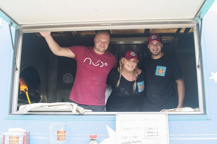 Edo and Loryn Nalic share their truck with chef Amel Rizvanovic. - MABEL SUEN
