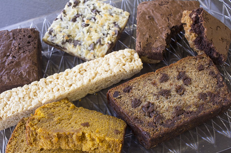 "Desserts include a brownie, ""Magic Cookie Bar,"" ""Brookie,"" ""Krispy Stix,"" pumpkin bread and banana chocolate-chip bread. - MABEL SUEN"