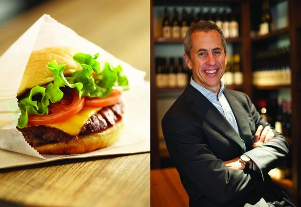 The ShackBurger, left, and Shake Shack founder Danny Meyer. - COURTESY OF SHAKE SHACK