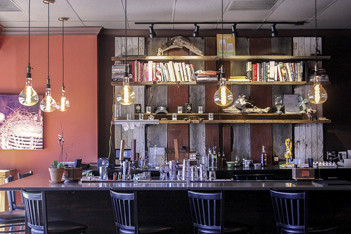 The Edison lights are a popular feature hanging over the bar. - MELISSA BUELT