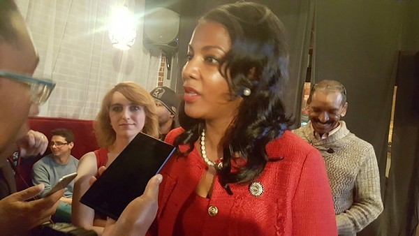 City Treasurer Tishaura Jones, who finished second to Mayor Lyda Krewson in the city's Democratic primary, is one of those leading the progressive charge against Prop P. - PHOTO BY DANNY WICENTOWSKI