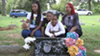Michael Brown's family visits his resting place.