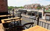 The rooftop patio.