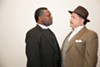 Stephen Kumalo and James Jarvis (Kenneth Overton and Tim Schall) play grieving fathers in <i>Lost in the Stars</i>.